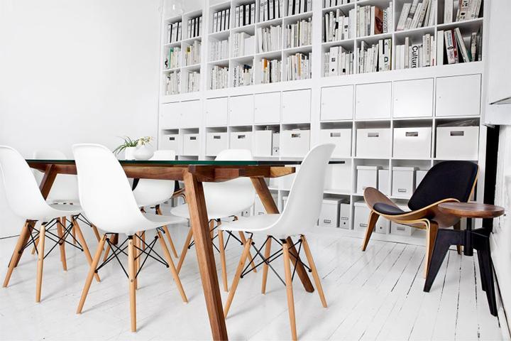 La chaise contemporaine blanche