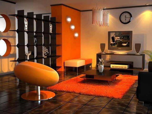 La chaise contemporaine orange