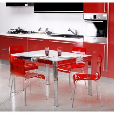 Chaises contemporaines De couleur rouge