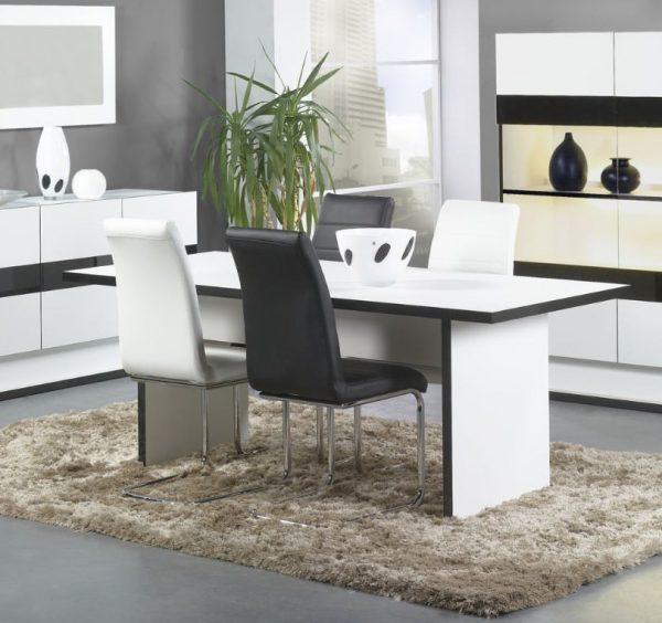 Chaises de salle à manger contemporaine coloris blanc