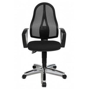 chaise de bureau contemporaine en tissu noir Seychelle